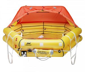 Transocean Plus 4-man Liferaft Rigid container #FNIP52176