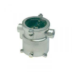 "Water cooling filter nickelplat H140mm Ø110mm Fittings 1/2"" #OS1765401"