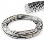 Stainless steel 19-strand wire rope Ø4mm Sold by the metre #OS0317140