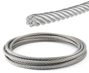 Stainless steel 133-strand wire rope Ø4mm Sold by the metre #OS0317240