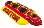 KWIK TEK Airhead Hot Dog Inflatable Towable Tube - 260x110cm - 3 People - Banana Model #OS6495600