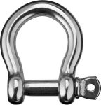 Stainless steel bow shackle with screw-lock - Pin 8mm #OS0842108