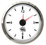 Osculati Orologio al Quarzo Scala 12 ore 12/24V A.57xB.51xC.45mm Quadrante Bianco #OS2732227