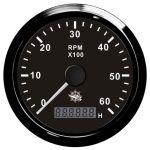 Osculati Contagiri Elettronico Universale con Contaore 0-6000 RPM 12/24V #OS2732503