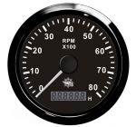 Osculati Contagiri Elettronico Universale con Contaore 0-8000 RPM 12/24V #OS2732504