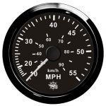 Osculati Spidometro a pressione d'acqua Scala 0-55MPH 12/24V #OS2732509