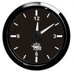 Osculati 12/24V Quartz Clock Scale 12 hours Black Dial Black Bezel #OS2732027