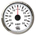 Osculati Amperometro Scala +-50A 12/24V A.57xB.51xC.45mm Bianco #OS2732223