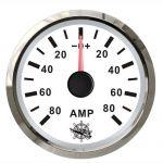 Osculati Ammeter Scale +- 80A 12/24V - A.57xB.51xC.45mm White #OS2732224