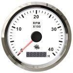 Osculati Contagiri Elettronico Universale con Contaore 0-4000RPM 12/24V Quadrante Bianco #OS2732702