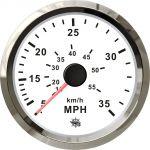 Osculati Spidometro Pitot a pressione d'acqua Scala 0-35MPH 12/24V #OS2732708