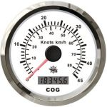 Osculati 12V Speedometer with GPS compass White Dial Glossy Bezel #OS2778001