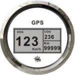 Osculati Spidometro Totalizzatore Bussola 12-24V Quadrante Bianco Lunetta Lucida #OS2778101