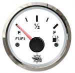 Osculati 12/24V Fuel Level Gauge Signal 240-33 Ohm White Dial Glossy Bezel #OS2732201