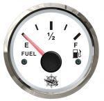 Osculati 12/24V Fuel Level Gauge Signal 10-180 Ohm White Dial Glossy Bezel European Type #OS2732200