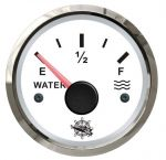 Osculati 12/24V Water Level Gauge Signal 240-33 Ohm White Dial Glossy Bezel #OS2732203