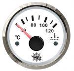 Osculati Indicatore Temperatura Acqua Scala 40-120°C 12/24V Quadrante Bianco Lunetta Lucida #OS2732208