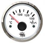 Osculati Indicatore Temperatura Olio Scala 50-150°C 12/24V Quadrante Bianco #OS2732209