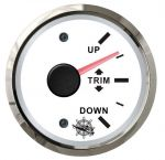 Osculati 12/24V TRIM Indicator Signal 0-190 Ohms White Dial Glossy Bezel #OS2732220