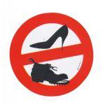 No shoes allowed relief sticker D.8cm #MT3418902