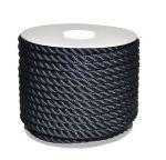 Sea King twisted mooring rope 50mt Ø22mm Black #AM00219369
