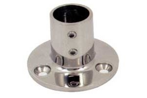 Stainless steel round base at 90° - Tube D.22 mm #N60840528028