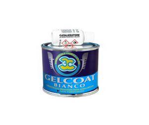 3C White Gelcoat Unparaffinated 0.25kg with 20ml Catalyst #N70749900008