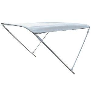 Aluminium 2 Arch Bimini H.110cm W.130cm L.180cm White #MT3266053