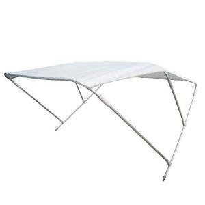 Aluminium 3 Arch Bimini H.110cm W.150cm L.180cm White #MT3265055