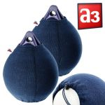 Fendress Polyester Navy Blue Pair Fender Covers for Polyform A3 #MT02804517
