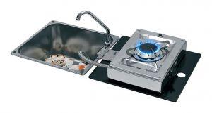 1701/11 Folding Stove with Sink 320x350mm 1 Burner h180mm #MT1506634