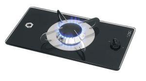 Piano di Cottura Chrystal PV1350 a Gas Vetro Temperato 1 Fuoco 365x200mm #MT1506601