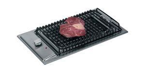 Piano Cottura con Barbeque in Acciaio Inox 2400W-220V - 500x300mm #MT1505840