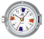Chrome plated aluminium clock Ø 120mm #FNIP54779