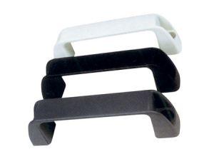 Maniglia corta in PVC rigido L.140mm H.40mm Nera #MT0340711