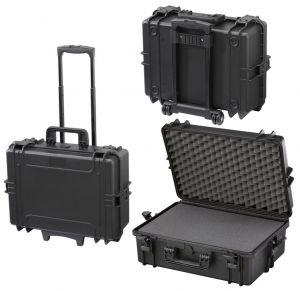 Waterproof Trolley Case Cubed Foam 505STR Black for Electronic Devices #66020013