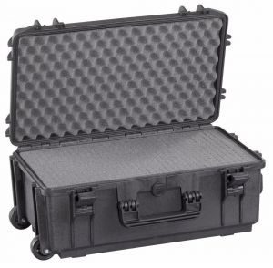 Waterproof Trolley Case Cubed Foam 520STR Black for Electronic Devices #66020018