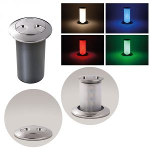 Quick Secret Light 6W 10-30V LED Retractable lamp in Polished Stainless Steel #Q26100001