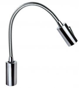 Quick Luce LED AUDREY WALL 1.5W Alluminio Cromato con Switch 10-30V #Q25400018