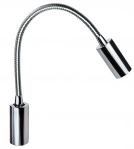 Quick Luce LED AUDREY WALL NS 1.5W Alluminio Cromato 10-30V No Switch #25400019