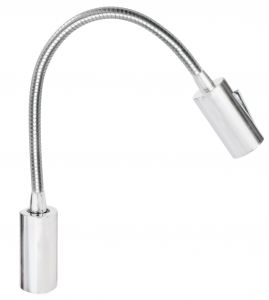 Quick AUDREY WALL 1.5W 10-30V Satin Aluminum Reading Light with Switch #Q25400020