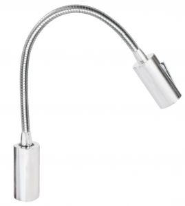 Quick Luce LED AUDREY WALL 1.5W Alluminio Satinato con Switch 10-30V #Q25400020