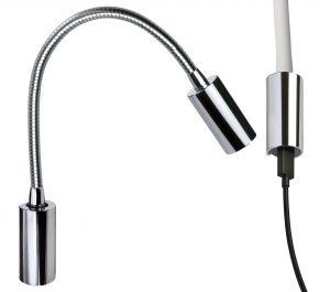 Quick Luce AUDREY WALL USB NS 1.5W in Alluminio Cromato 10-30V IP40 #Q25400024