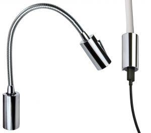 Quick AUDREY WALL USB 1.5W 10-30V Polished Aluminum Reading Light #Q25400025