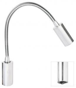 Quick Luce AUDREY WALL S2 1.5W Alluminio Satinato con Switch 10-30V #Q25400027