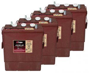 Kit 4pcs Trojan J305G-AC Deep Cycle Flooded Battery 6V 315Ah 24V 7,5kWh #20050785-4