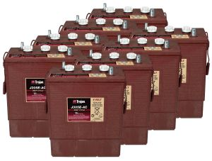 Kit 8pz Trojan J305G-AC Batteria Acido Libero Deep Cycle 6V 315Ah 48V 15,1kWh #20050785-8