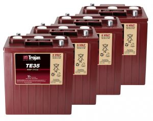 Kit 4pcs Trojan TE-35 Deep Cycle Flooded Battery 6V 245Ah 24V 5,8kWh #20050790-4