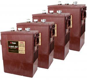 Kit 4pcs Trojan L 16G-AC Deep Cycle Flooded Battery 6V 390Ah 24V 9,3kWh #20050795-4
