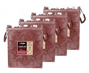Kit 4pcs Trojan J305P-AC Deep Cycle Flooded Battery 6V 330Ah 24V 7,9kWh #20050815-4